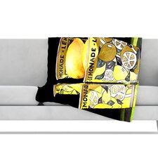Lemonade Fleece Throw Blanket