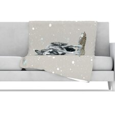 Wolf Fleece Throw Blanket