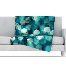 Shades of Blue Microfiber Fleece Throw Blanket