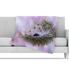 Dandelion Clock Microfiber Fleece Throw Blanket
