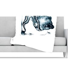 Hot Tub Hunter Microfiber Fleece Throw Blanket