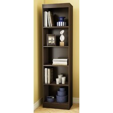 Axess 5 Shelf Narrow Bookcase