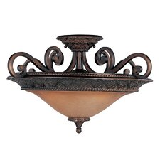 Symphony 3 Light Semi Flush Mount