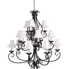 Manor 15 Light Chandelier