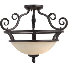 Manor 2 Light Semi Flush Mount