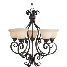 Manor 5 Light Up Chandelier