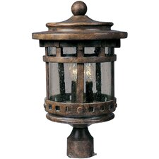 Santa Barbara Cast 3 Light Outdoor Post Lantern
