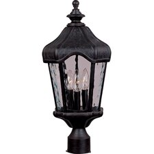 "Garden VX 3 Light 22"" Outdoor Post Lantern"