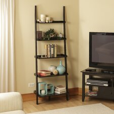 American Heritage Ladder Bookshelf in Black Wood Grain
