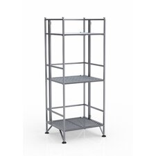 XTRA Storage 3 Tier Folding Shelf in Silver