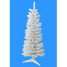 4' White Pencil Artificial Christmas Tree