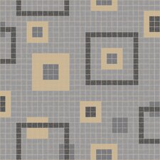 "Urban Essentials 24"" x 24"" Balanced Squares Mosaic Pattern Tile in Urban Khaki"