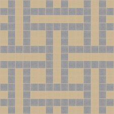 "Urban Essentials 12"" x 12"" Basket Weave Mosaic Pattern Tile in Urban Khaki"