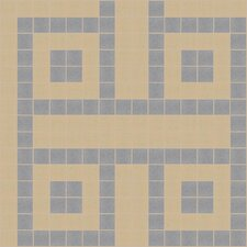 "Urban Essentials 12"" x 12"" Square Lattice Mosaic Pattern Tile in Urban Khaki"