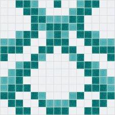 "Urban Essentials 12"" x 12"" Subtle Scales Mosaic Pattern Tile in Deep Teal"