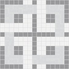 "Urban Essentials 12"" x 12"" Woven Lattice Mosaic Pattern Tile in Calm Grey"