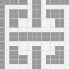 "Urban Essentials 12"" x 12"" Geometric Lattice Mosaic Pattern Tile in Calm Grey"
