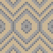 "Urban Essentials 24"" x 24"" Funky Diamond Mosaic Pattern Tile in Urban Khaki"