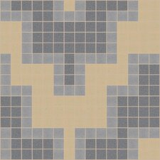"Urban Essentials 12"" x 12"" Stepped Chevron Mosaic Pattern Tile in Urban Khaki"