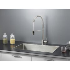 "32"" x 19"" Kitchen Sink with Faucet"