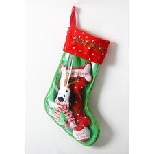 "Santa""s Lucky Dog ""Antler Dog"" Holiday Pet Stocking and Toy Set"