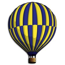 Hot Air Balloon 3D Cartoon Wall Art