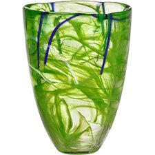 Contrast Vase in Lime
