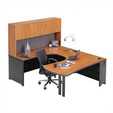Endure U-Shape Right Configuration Executive Workstation with Hutch