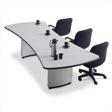 "96"" Wide Presentation Top Conference Table with Curved Plinth Base"