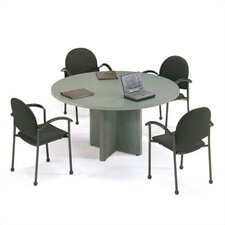 "48"" Diameter Bull Nose Round Top Gathering Table with X-Base"