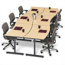 "Smart Tables: 30"" x 72"" Crescent Concave/Convex Workstation"