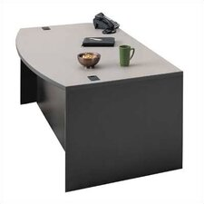 "Unity 72"" W Arc Left Pedestal Executive Desk"