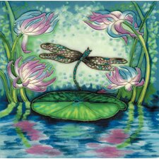 "8"" x 8"" Dragonfly Art Tile in Multi"
