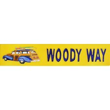 "16"" x 3"" Woody Way Art Tile in Yellow"