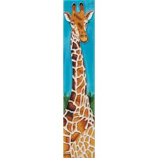 "16"" x 3"" 1 Giraffe Art Tile in Multi"