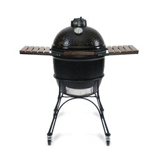 "18"" ClassicJoe Charcoal Grill with Cart and Side Shelves"