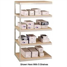 "72"" & 96"" Wide Double Rivet Units (with Center Support) - 5 Shelf Add-On Unit, w/ Channel Beams"