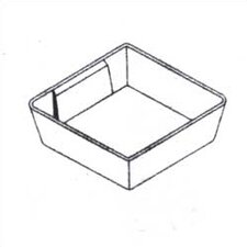 "Clipper Specialty Shelving - Plastic Bins For Drawers with 3"" Drawer Fronts"