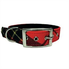 Red Plaid Tiny Dog Collar