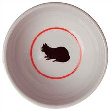 Cameo Porcelain Cat Bowl