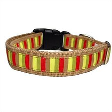 Mod-Stripe Cotton Dog Collar