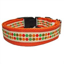 Doggy Dots Cotton Dog Collar