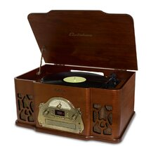 Winston 3-in-1 Vintage Classic Turntable Real Wood Stereo System