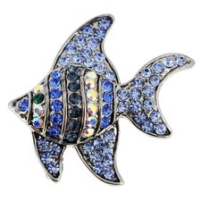 Angel Fish Crystal Brooch
