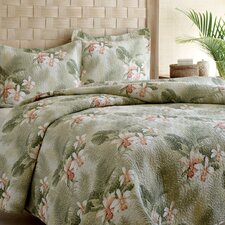 Tropical Orchid Quilt Set