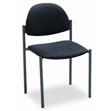 Comet Armless Stacking Chair with Rounded Back and Frame