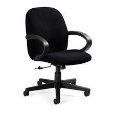 Enterprise Low-Back Pneumatic Office Chair with Fixed Height Loop Arms