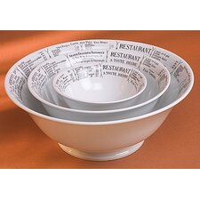 "Brasserie Footed 9.75"" Salad Bowl"