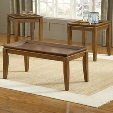 Pecan 3 Piece Coffee Table Set