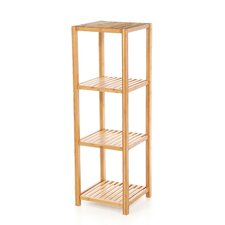 Bamboo 4 Tier Vertical Shelf